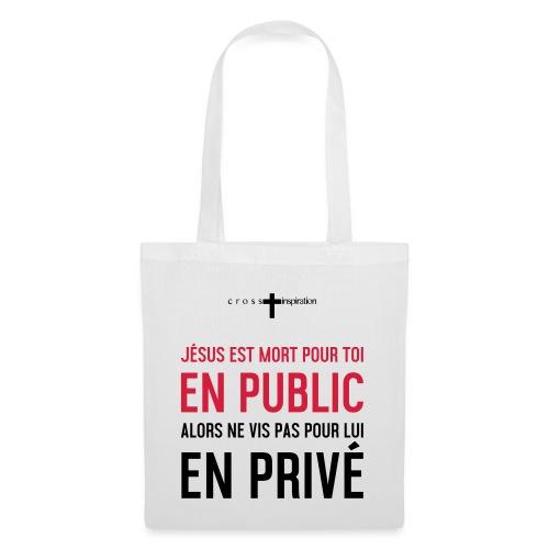 Public ou privé - Tote Bag