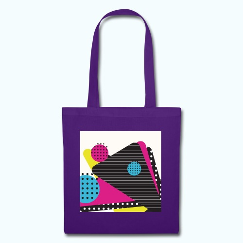 Abstract vintage shapes pink - Tote Bag