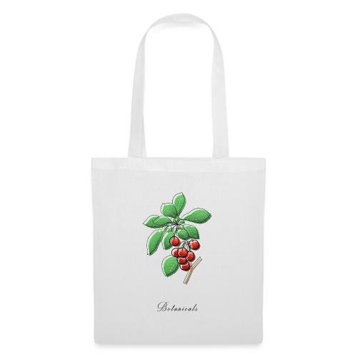Disegno ramo di ciliegie - Borsa di stoffa