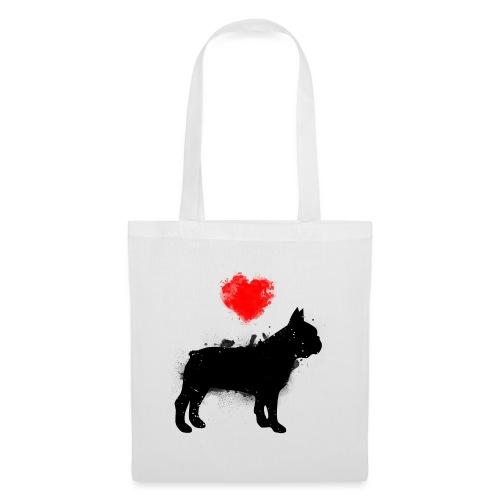 Französische Bulldogge Wunschname - Stoffbeutel