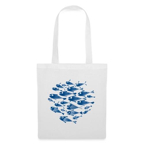 Banco di pesci / Banco del pesce - Borsa di stoffa