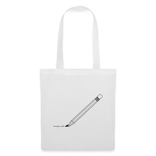 Damaged pencil logo - Stoffbeutel