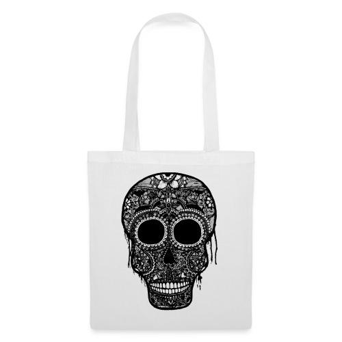 SugarSkull Gris png - Tote Bag