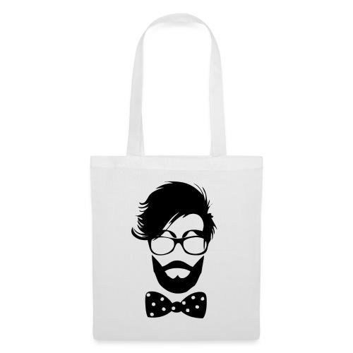 hipster_med_briller_og_butterfly - Tote Bag