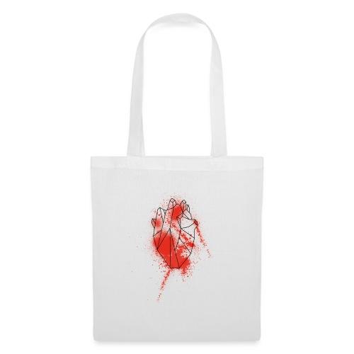 Geometria cuore schizzo sangue - Borsa di stoffa