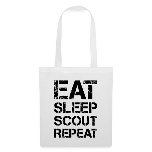 EAT SLEEP SCOUT REPEAT Kreide - Farbe frei wählbar - Stoffbeutel