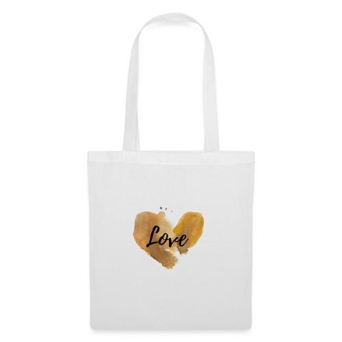 Love Logo Liebe Gold Herz - Stoffbeutel