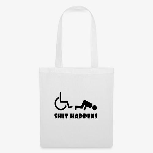 Het zit soms ook tegen in je rolstoel - Tas van stof