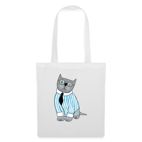 Cat with glasses - Tote Bag