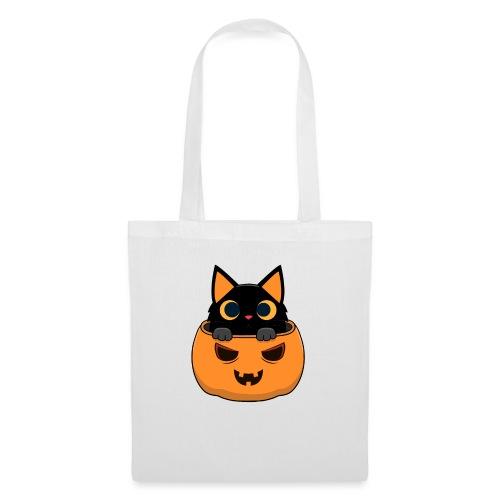 Halloween Katze Kürbis - Stoffbeutel
