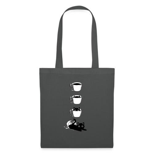 Süsse Katze in Kaffee Tasse - Stoffbeutel