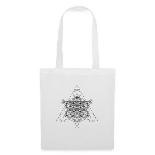Sacred Geometry Seed, Flower. Tree Black - Tote Bag