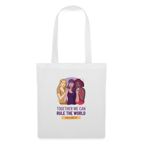 t shirt design generator featuring three women - Bolsa de tela