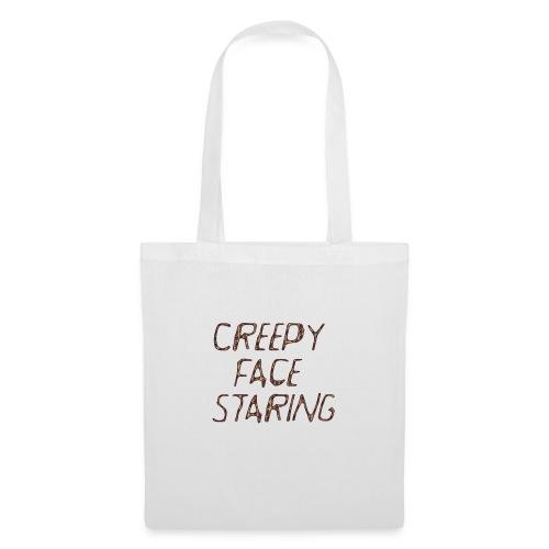 Creepy face staring - Borsa di stoffa