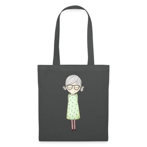 meisje met bril - Tas van stof