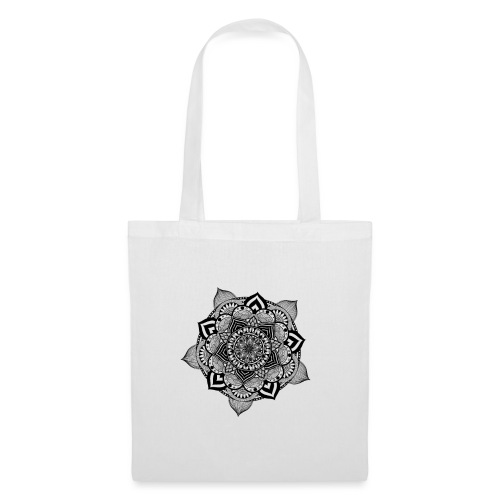 mandala fiore di loto - Borsa di stoffa