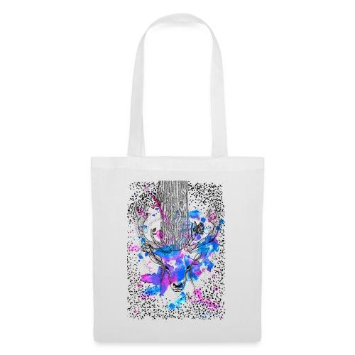 cerf aquarelle - Tote Bag
