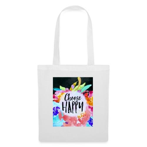 Choose happy - Stoffbeutel