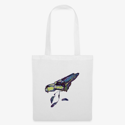Rainbow wolf skull - Tote Bag