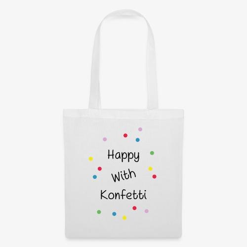 Happy With Konfetti - Stoffbeutel