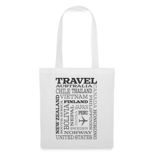 Travel Places Gray design - Kangaskassi