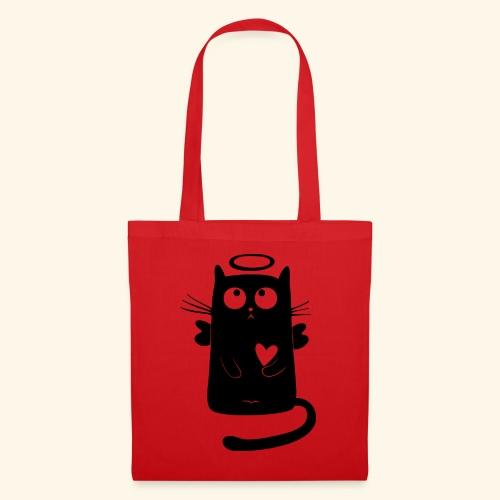 Gato angelical - Bolsa de tela