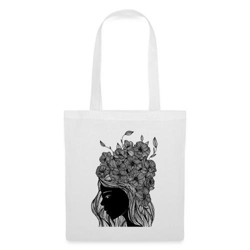 Flower portrait - Borsa di stoffa