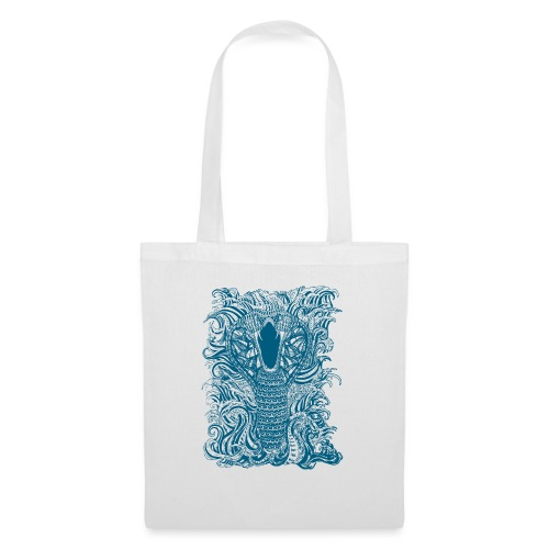 Snake-and-Water-in-Blue - Bolsa de tela