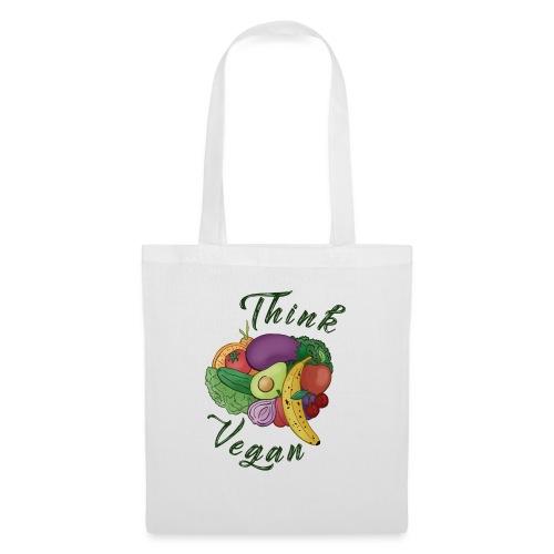 Think Vegan dunkel - Tote Bag