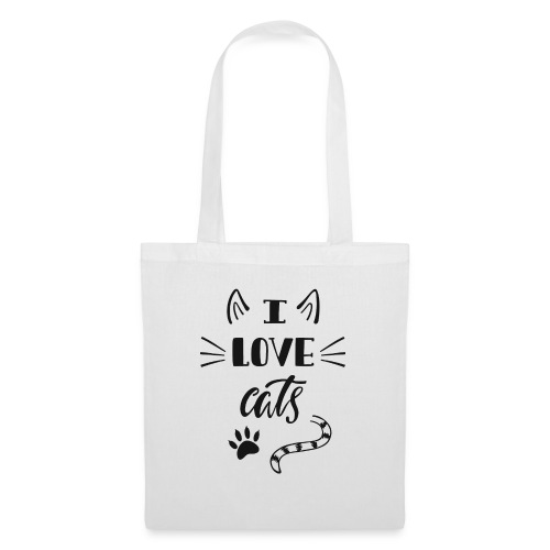 I love cats - Stoffbeutel