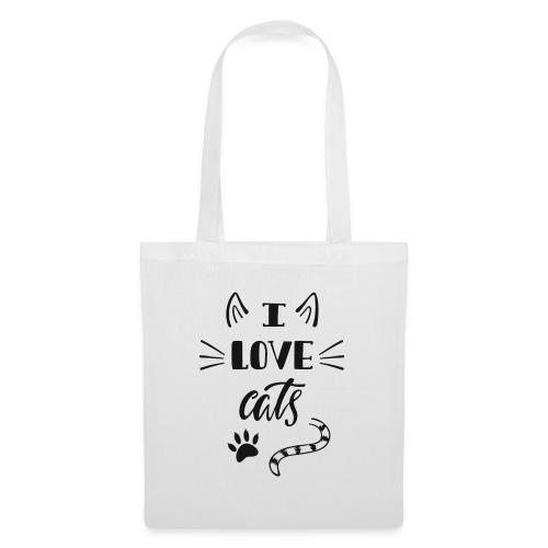 I love cats - Stoffbeutel