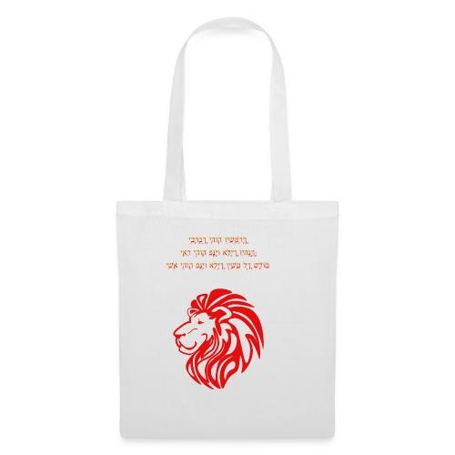 Löwe mit aaronitischem Segen - Stoffbeutel