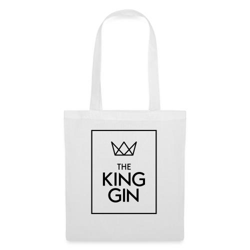 The King Gin Logo schwarz RGB Rahmen - Stoffbeutel