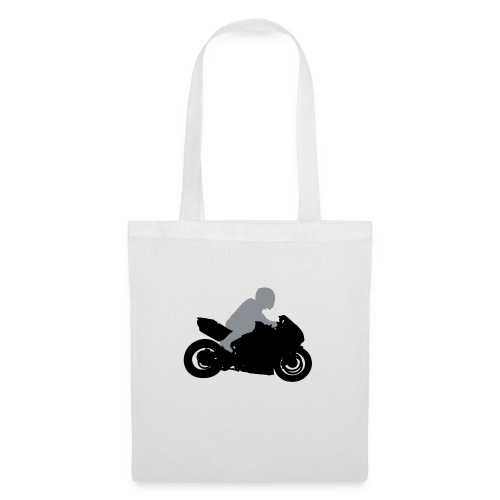 Biker Silhouette - Stoffbeutel