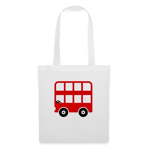 Doppeldecker Bus Comic - Stoffbeutel