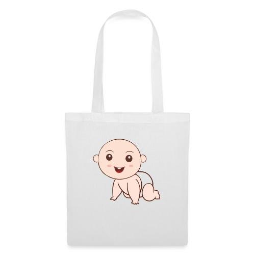 Liegendes Baby - Stoffbeutel