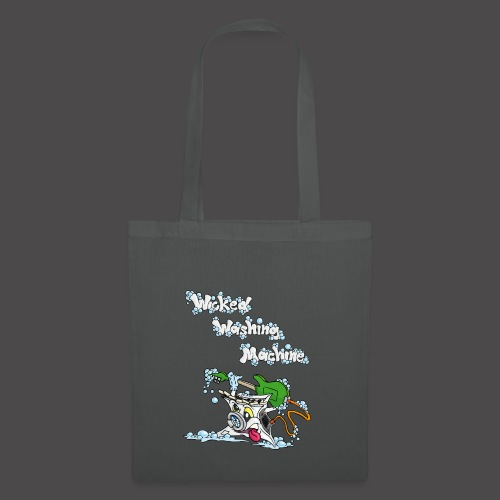 Wicked Washing Machine Cartoon and Logo - Tas van stof