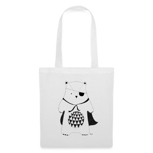 stoere beer - Tas van stof