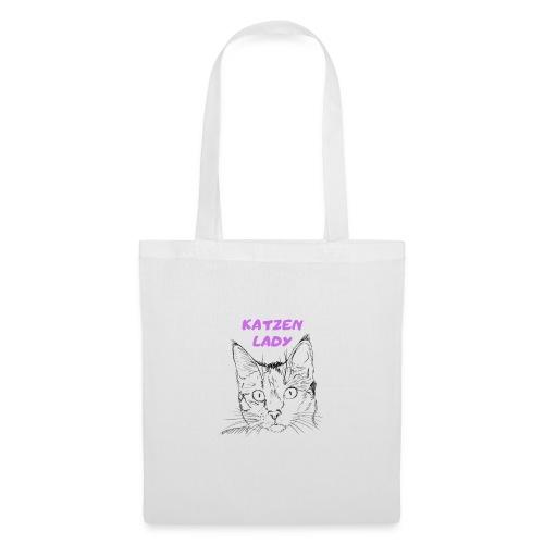 Katzen lady - Stoffbeutel