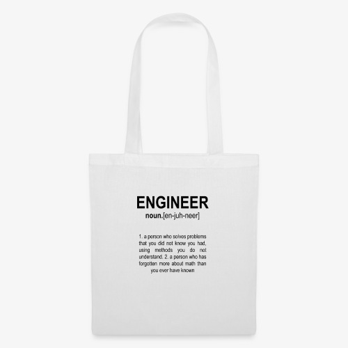 Engineer Def. 2 Black - Tote Bag