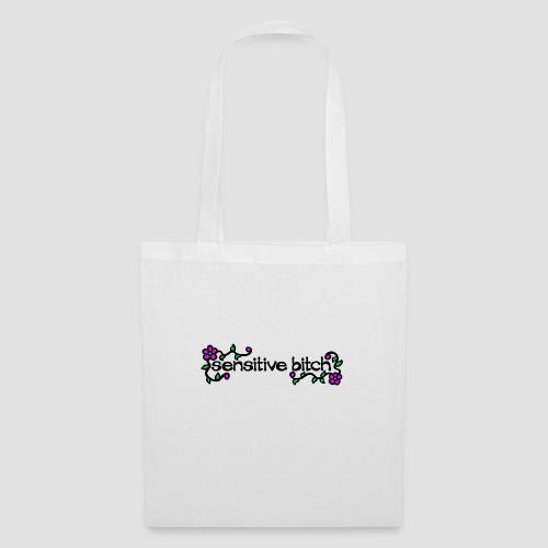 Sensitive Bitch (black) - Tote Bag