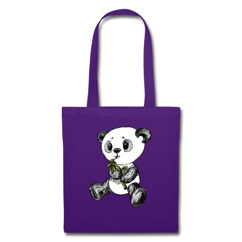 Panda Bär farbig scribblesirii - Stoffbeutel