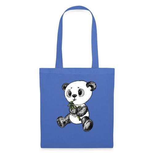 Panda bjørn farvet scribblesirii - Mulepose