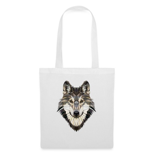 wolf, polygon design, unique - Tote Bag