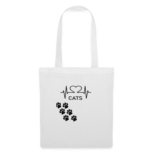 Design für Katzenbesitzer. - Stoffbeutel
