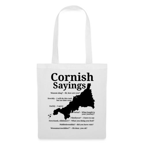 Cornish sayings - Tote Bag