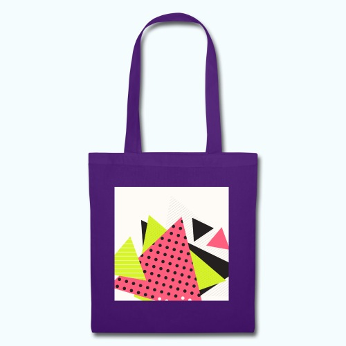 Neon geometry shapes - Tote Bag