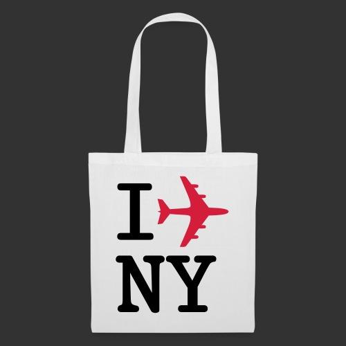 I plane NY - Tygväska
