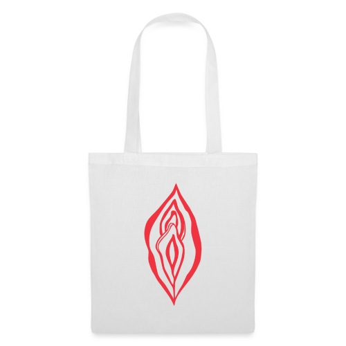 Red Hot Yoni Lips Sacred Pussy Power Feminist - Tote Bag