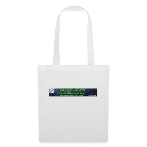 White YouTube Banner Tee - Tote Bag